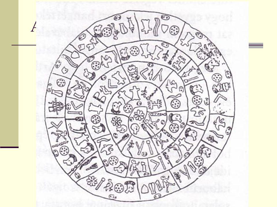 A phaisztoszi korong A korong fényképe és rajza. Urbán Gabriella 2003.