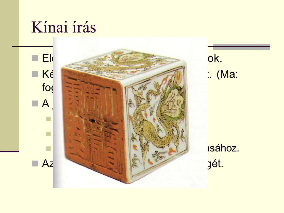 Kínai írás Előzmények: Kr.e.18. sz. jóscsontok.