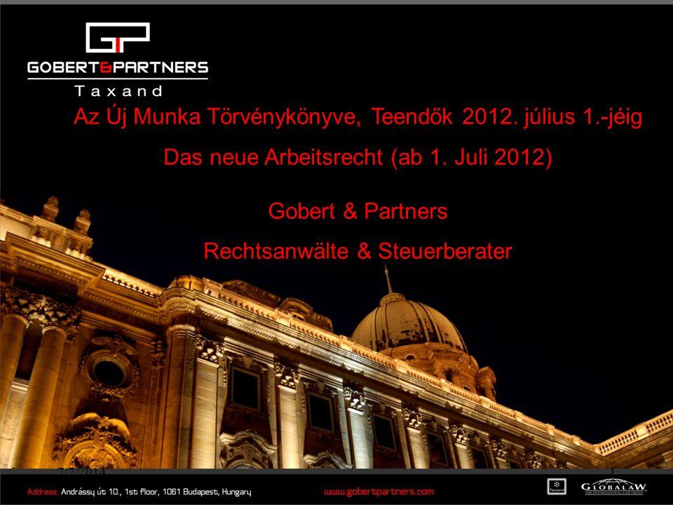 Az Új Munka Törvénykönyve, Teendők 2012. július 1.-jéig
