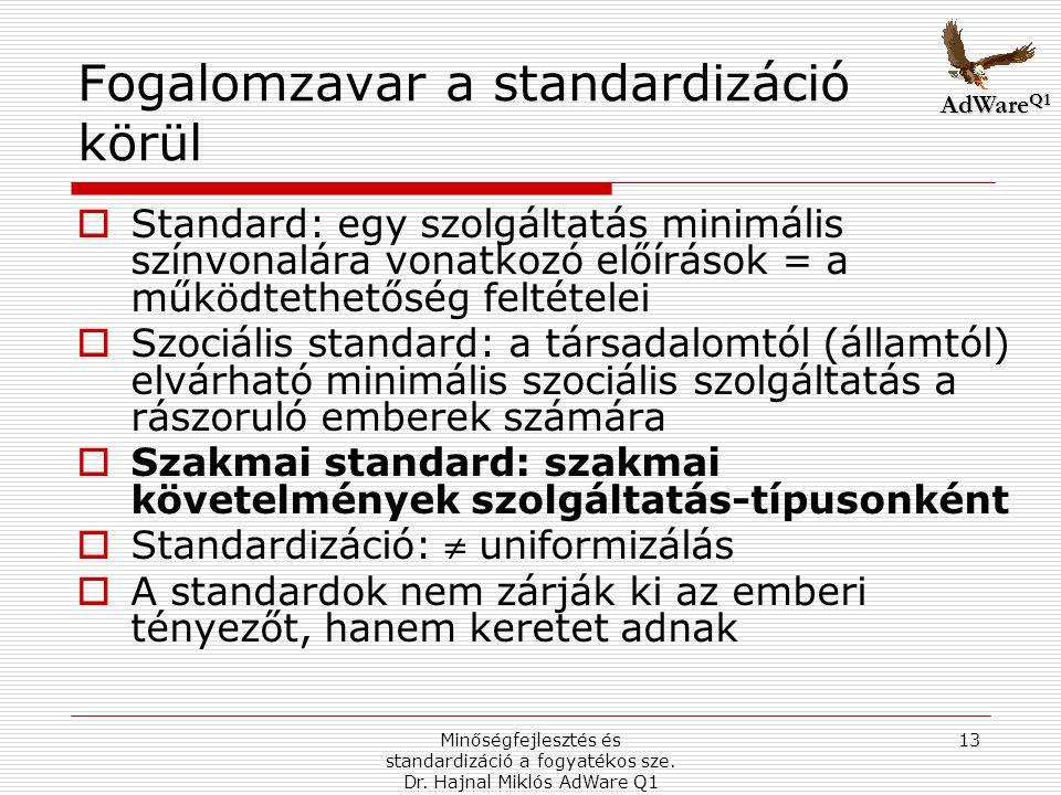 Fogalomzavar a standardizáció körül