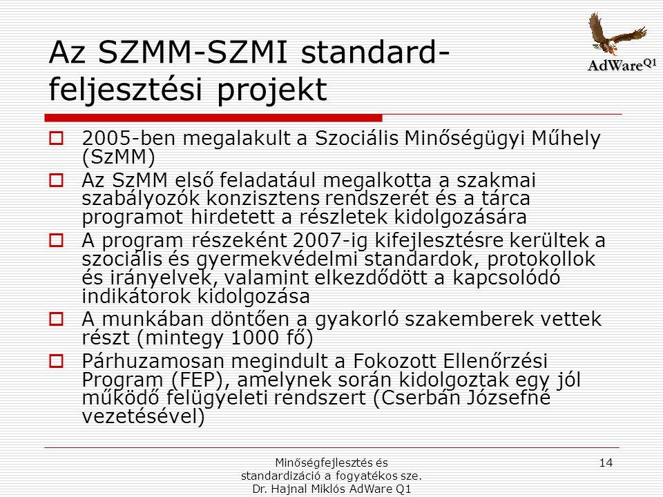 Az SZMM-SZMI standard-feljesztési projekt