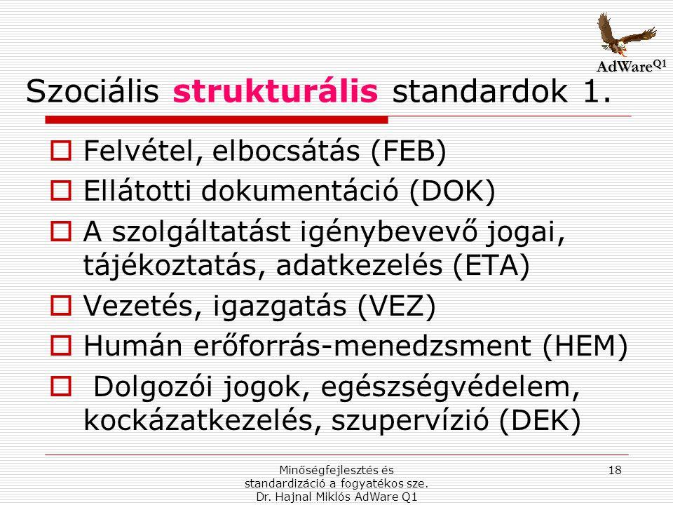 Szociális strukturális standardok 1.