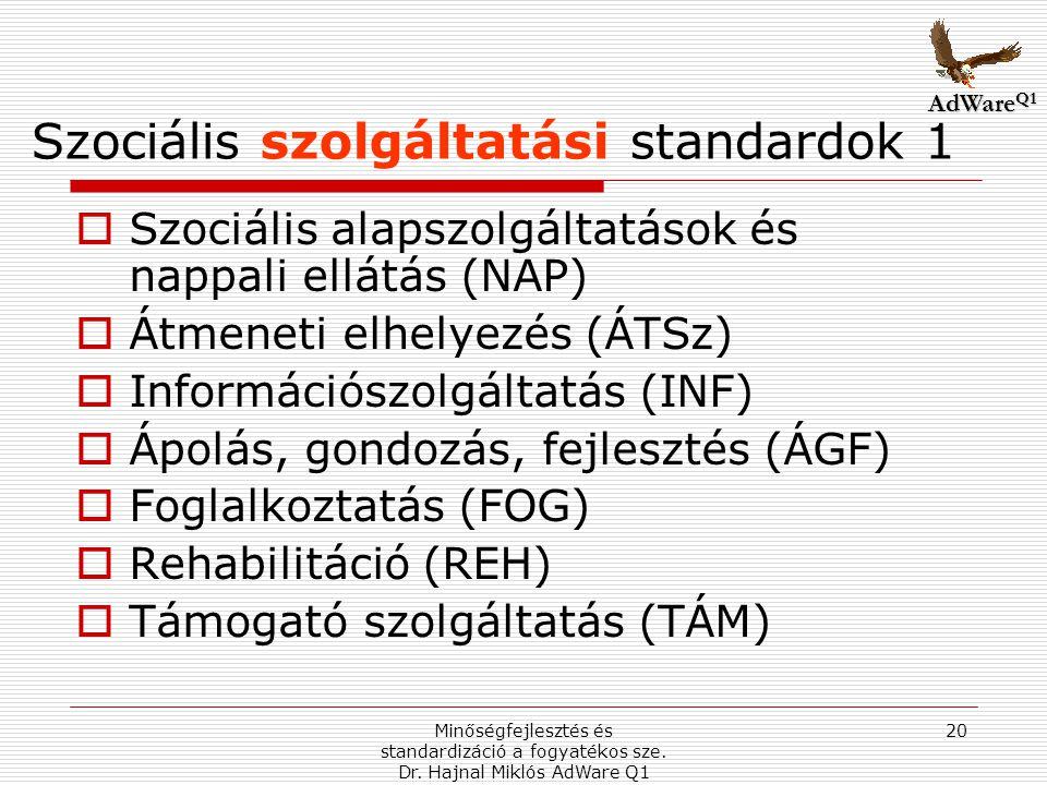 Szociális szolgáltatási standardok 1