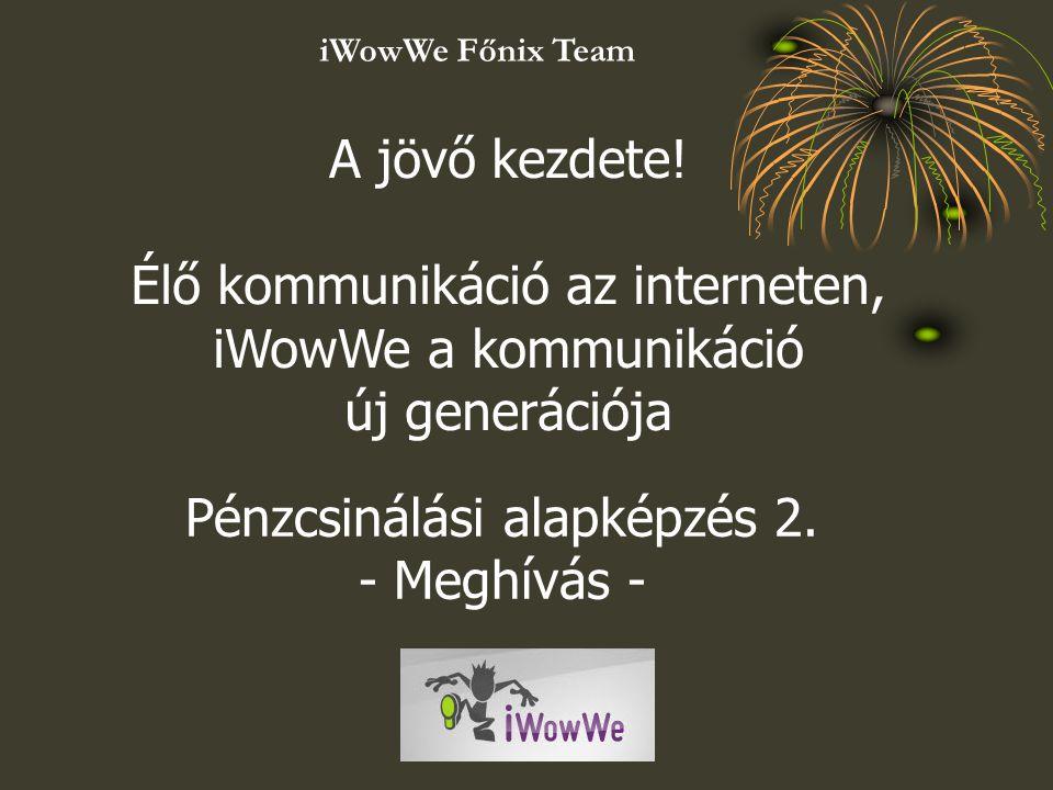 Élő kommunikáció az interneten, iWowWe a kommunikáció új generációja