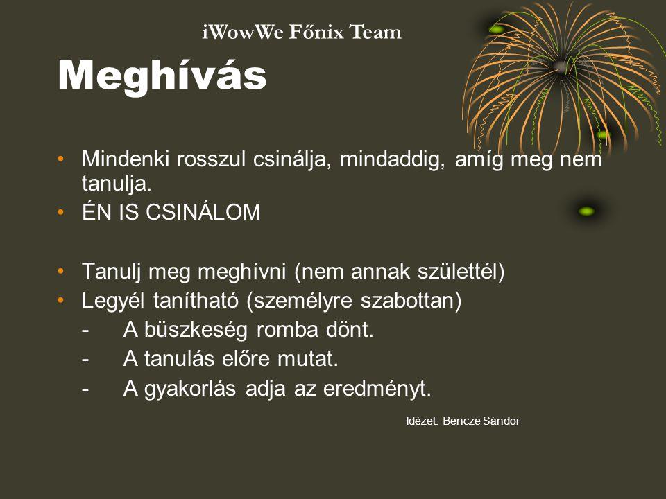 Meghívás iWowWe Főnix Team