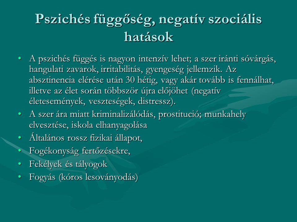 Pszichés függőség, negatív szociális hatások