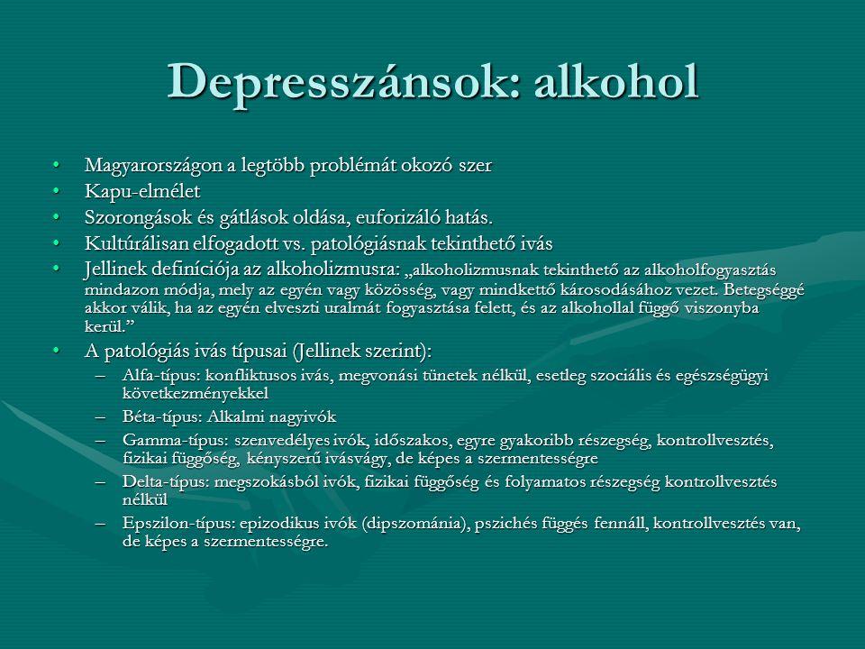 Depresszánsok: alkohol