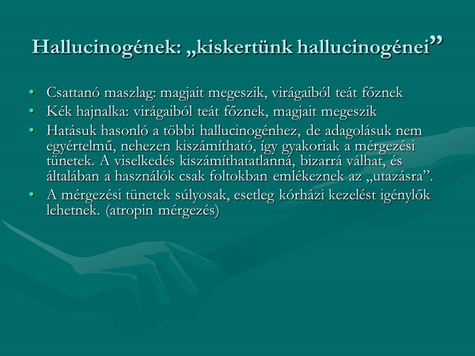 """Hallucinogének: """"kiskertünk hallucinogénei"""