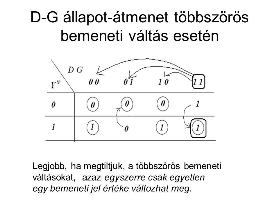 D-G állapot-átmenet többszörös bemeneti váltás esetén