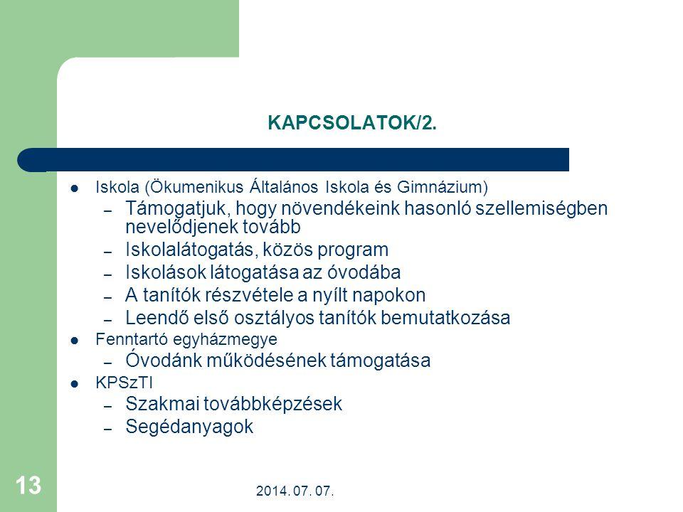 Iskolalátogatás, közös program Iskolások látogatása az óvodába