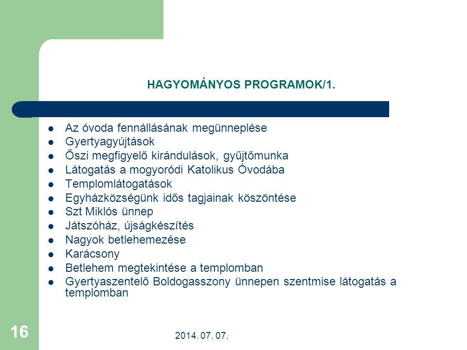 HAGYOMÁNYOS PROGRAMOK/1.