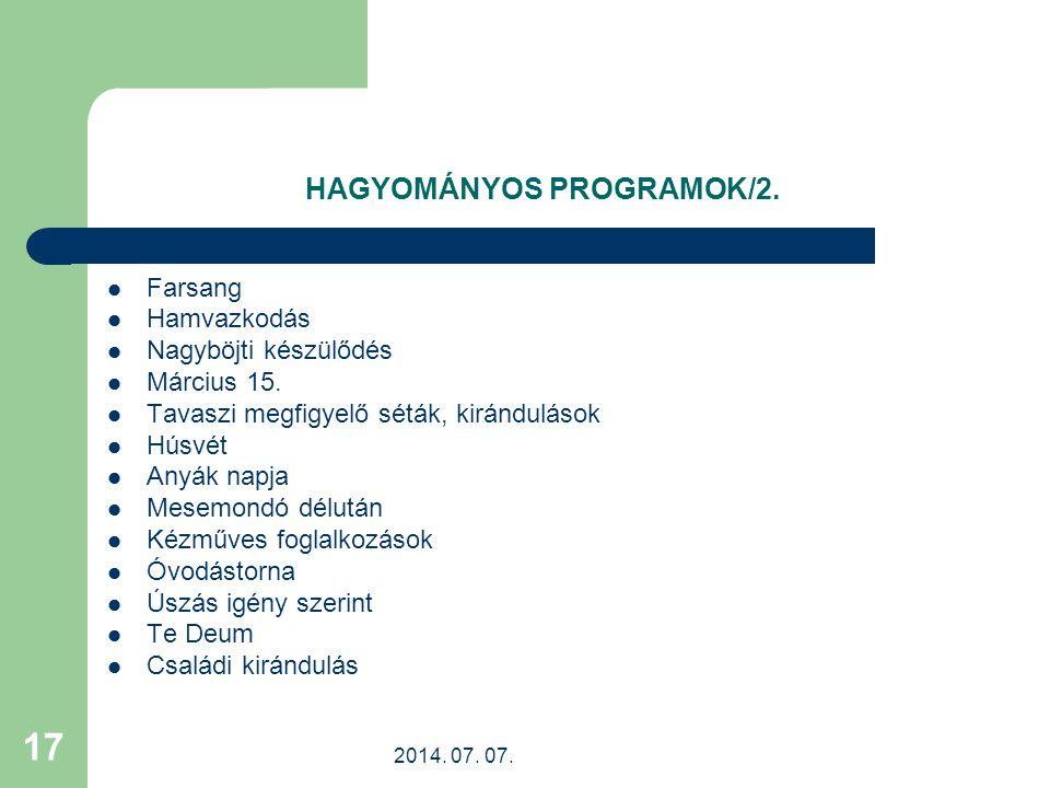 HAGYOMÁNYOS PROGRAMOK/2.