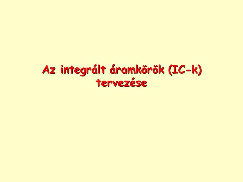 Az integrált áramkörök (IC-k) tervezése