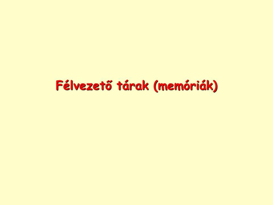 Félvezető tárak (memóriák)