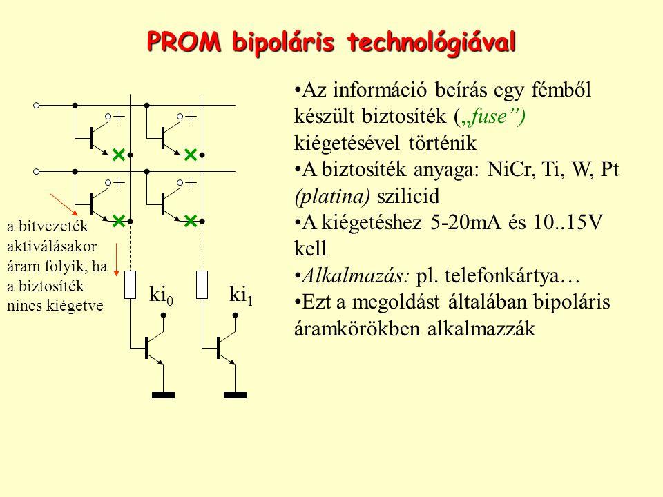 PROM bipoláris technológiával