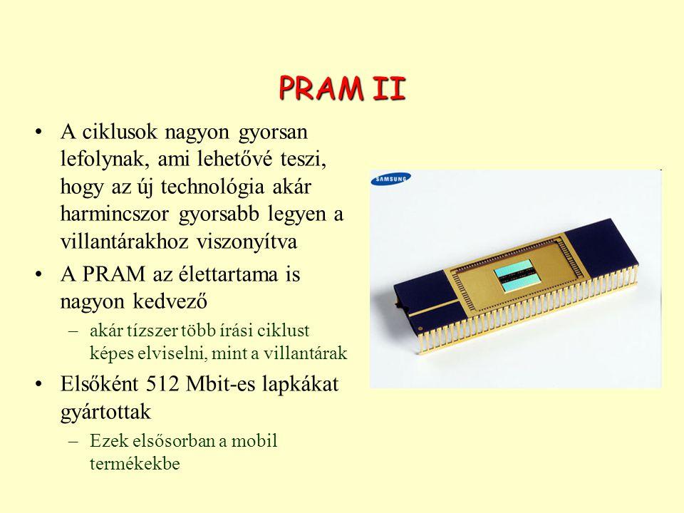 PRAM II A ciklusok nagyon gyorsan lefolynak, ami lehetővé teszi, hogy az új technológia akár harmincszor gyorsabb legyen a villantárakhoz viszonyítva.