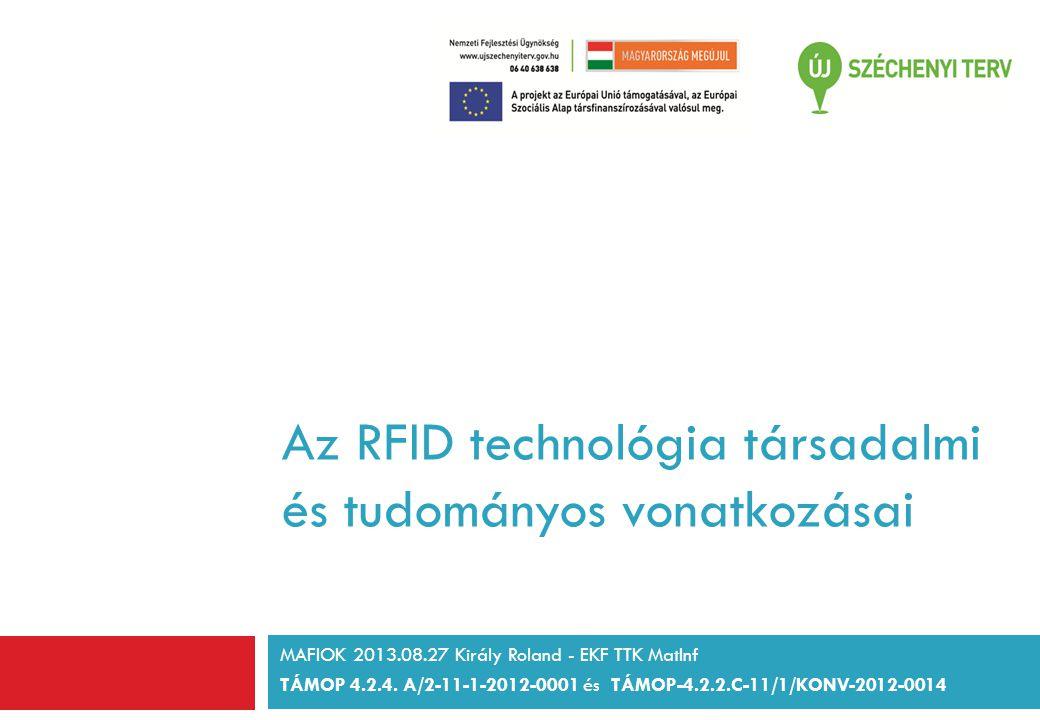 Az RFID technológia társadalmi és tudományos vonatkozásai