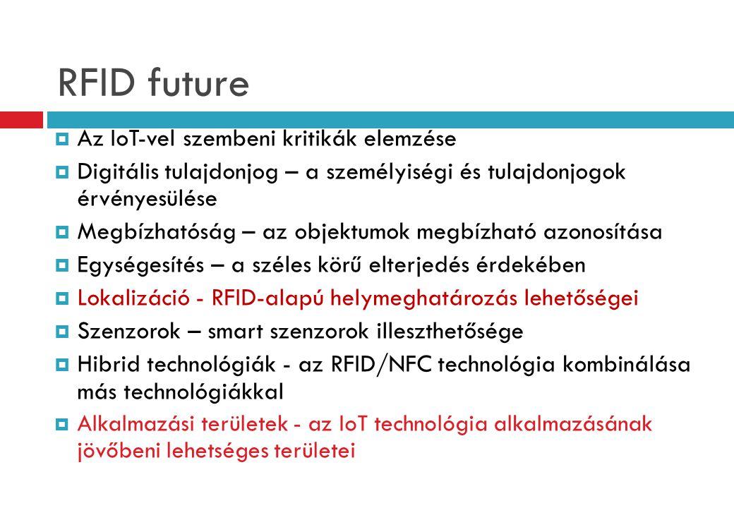 RFID future Az IoT-vel szembeni kritikák elemzése