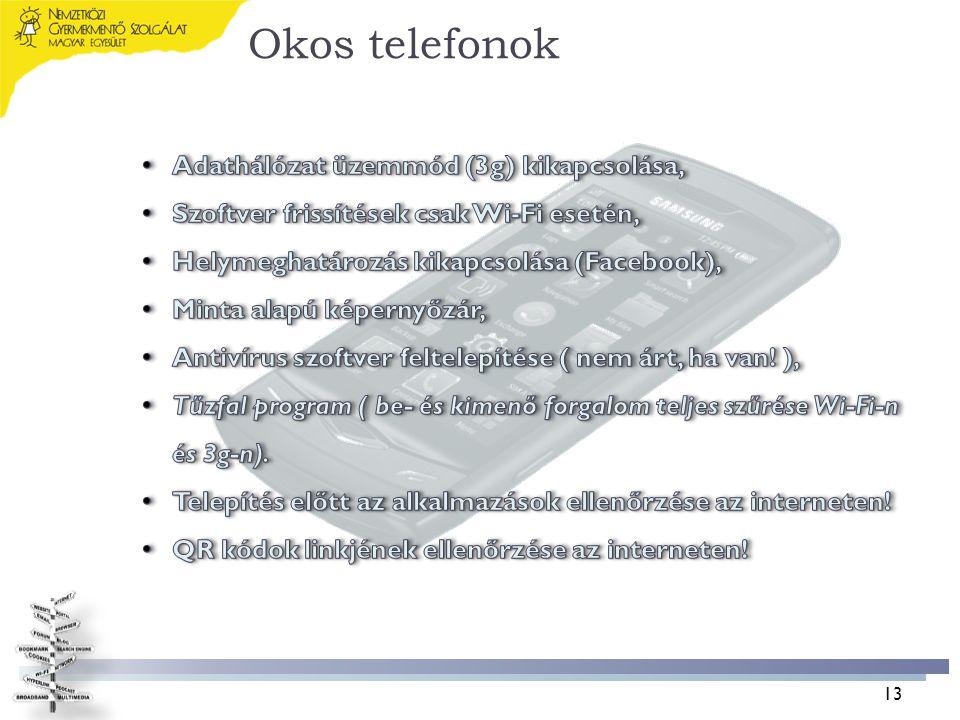 Okos telefonok Adathálózat üzemmód (3g) kikapcsolása,
