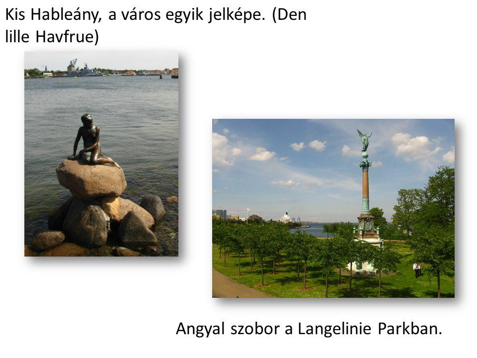 Kis Hableány, a város egyik jelképe. (Den lille Havfrue)