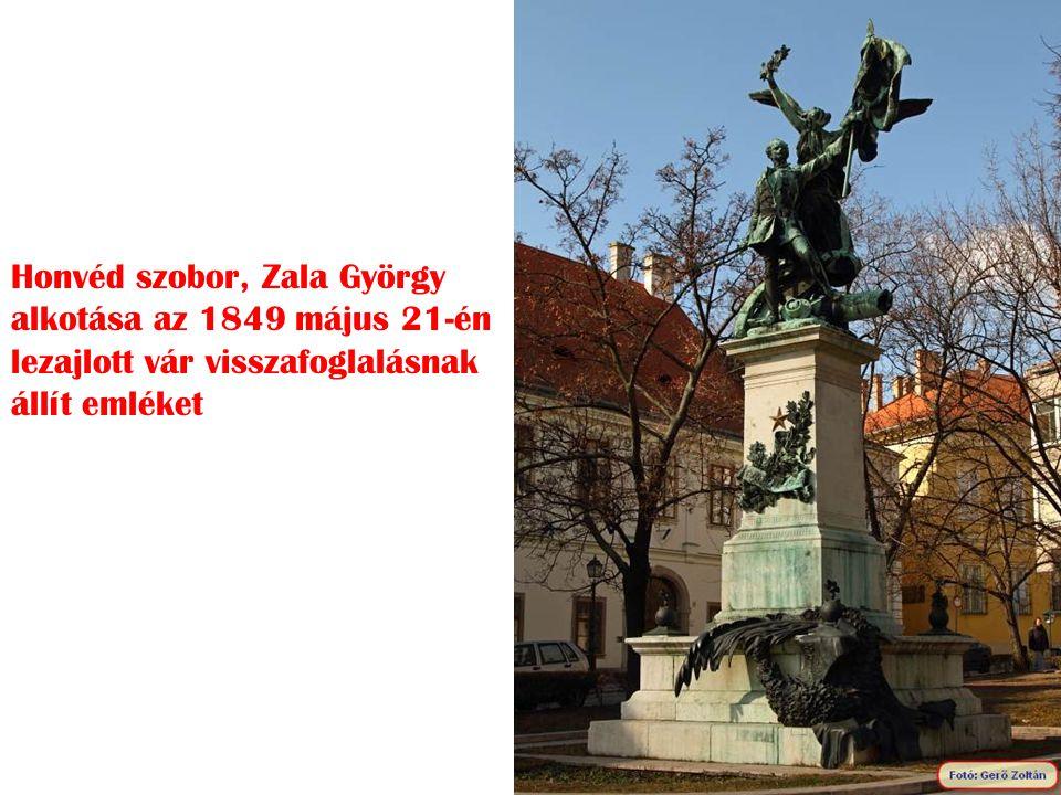 Honvéd szobor, Zala György alkotása az 1849 május 21-én lezajlott vár visszafoglalásnak állít emléket