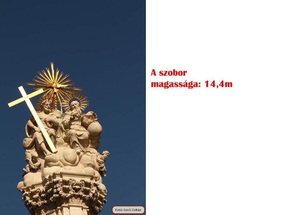 A szobor magassága: 14,4m