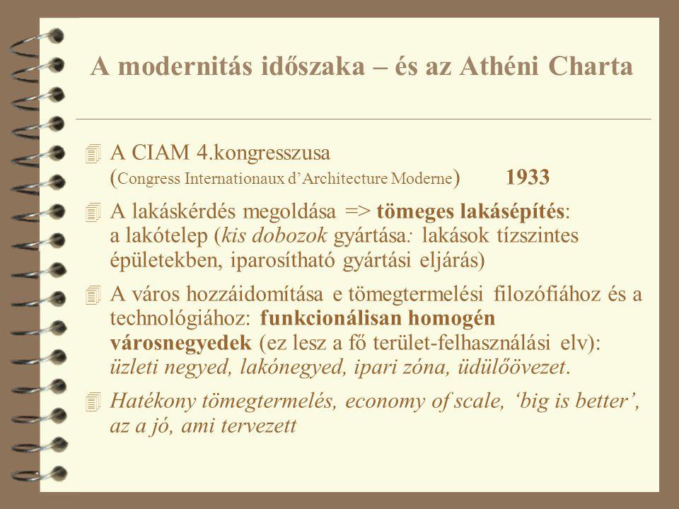 A modernitás időszaka – és az Athéni Charta