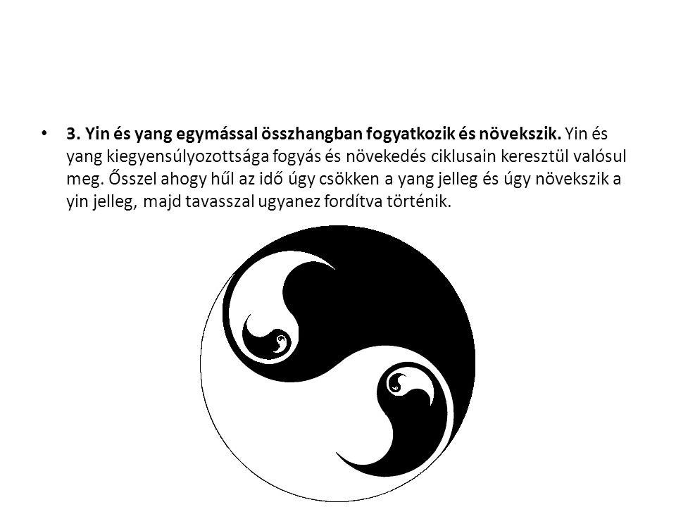 3. Yin és yang egymással összhangban fogyatkozik és növekszik