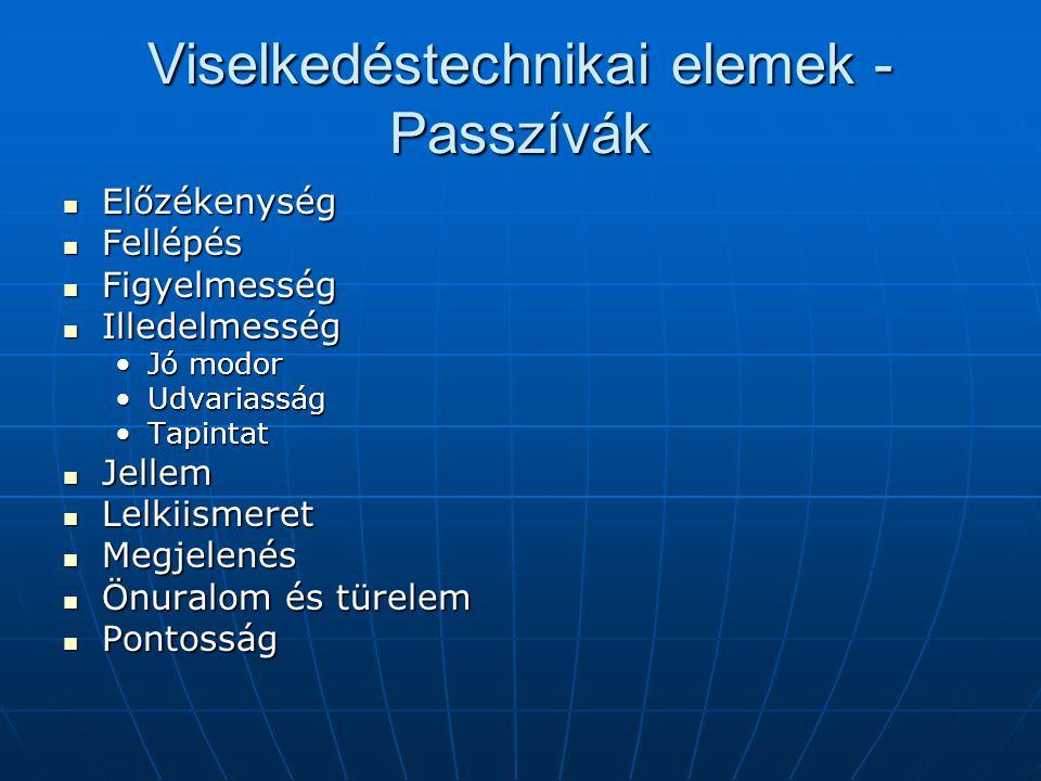 Viselkedéstechnikai elemek - Passzívák