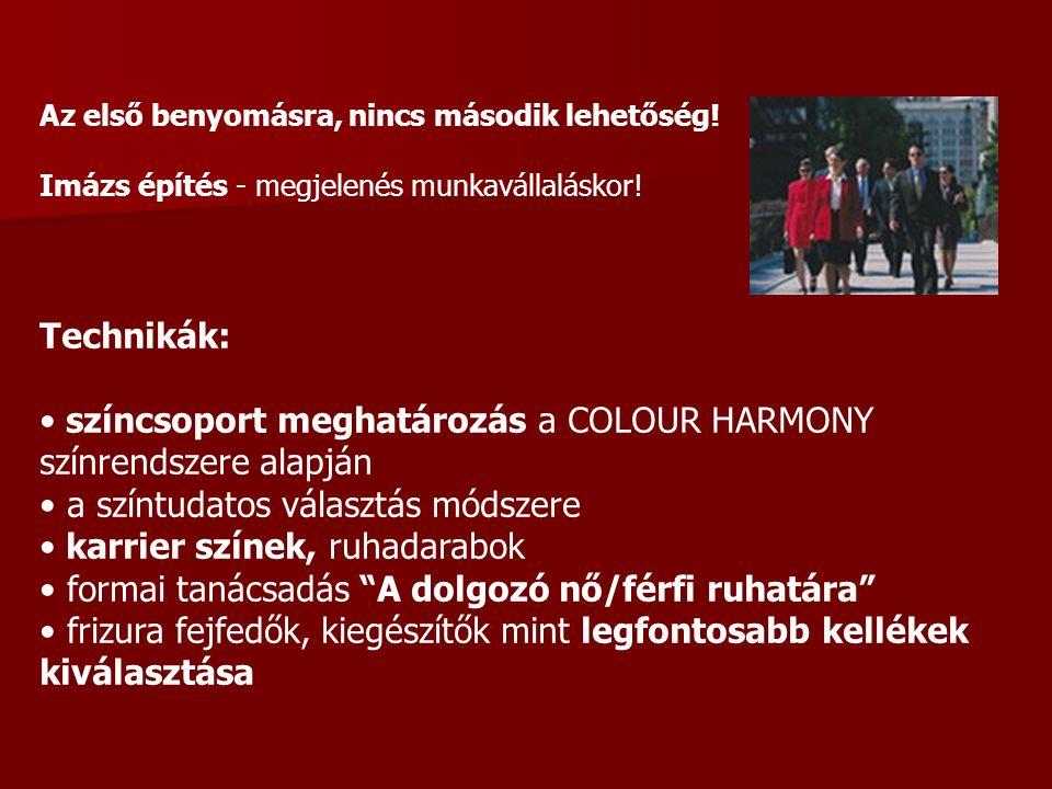 színcsoport meghatározás a COLOUR HARMONY színrendszere alapján