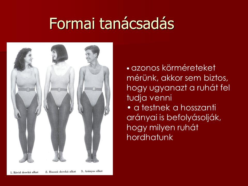 Formai tanácsadás azonos körméreteket mérünk, akkor sem biztos, hogy ugyanazt a ruhát fel tudja venni.