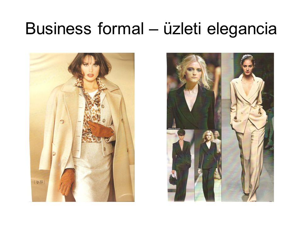 Business formal – üzleti elegancia