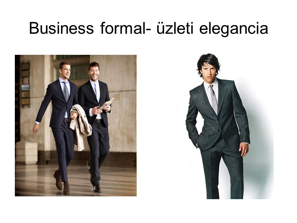 Business formal- üzleti elegancia