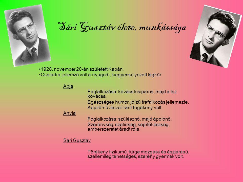 Sári Gusztáv élete, munkássága
