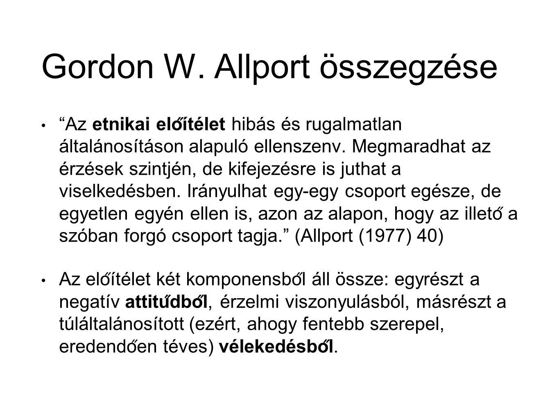 Gordon W. Allport összegzése