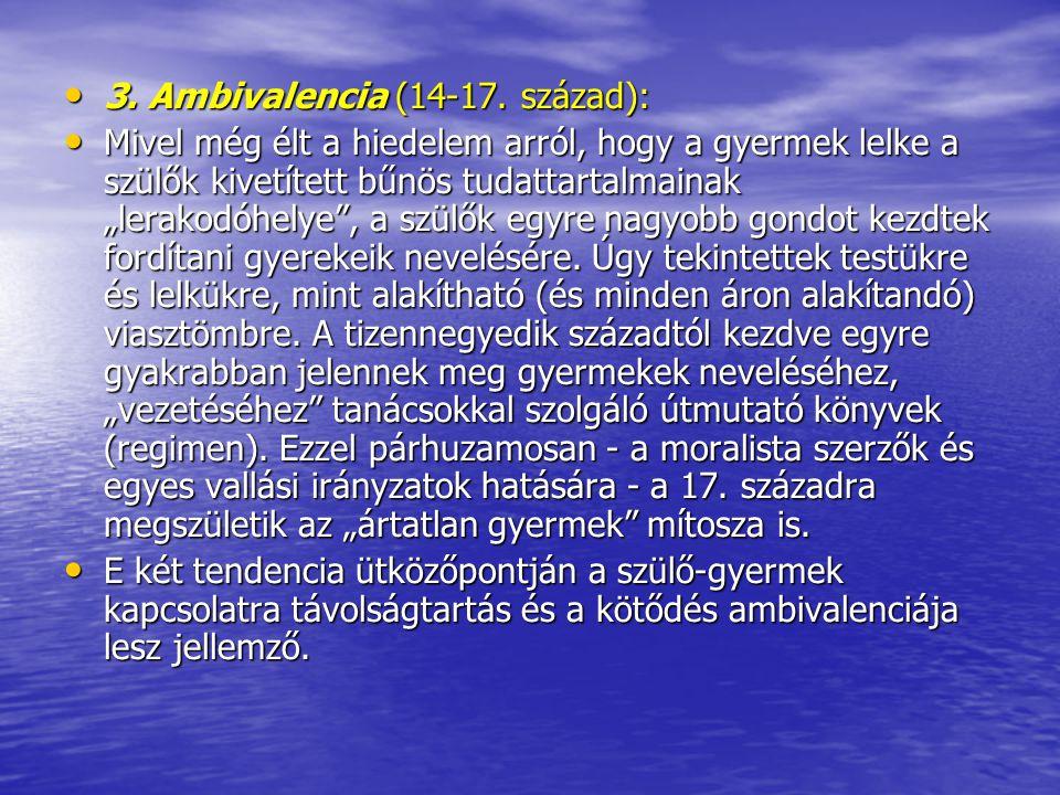3. Ambivalencia (14-17. század):