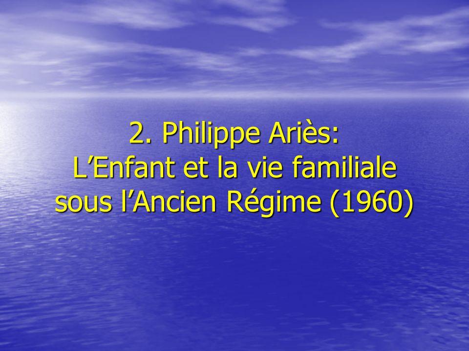 2. Philippe Ariès: L'Enfant et la vie familiale sous l'Ancien Régime (1960)