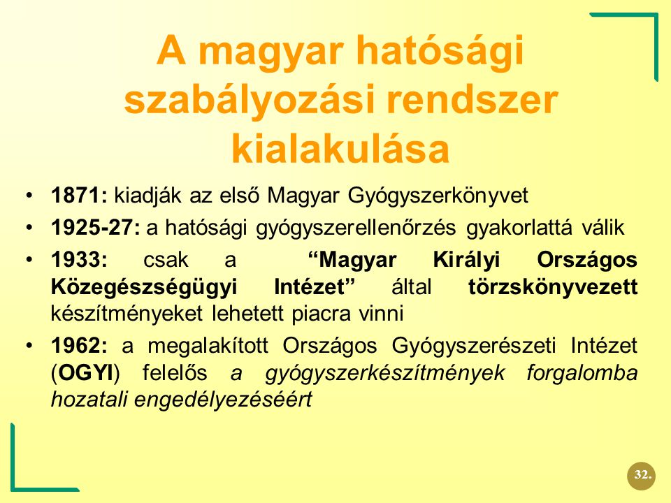 A magyar hatósági szabályozási rendszer kialakulása