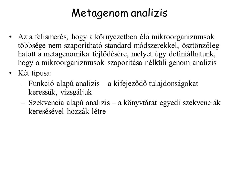Metagenom analizis