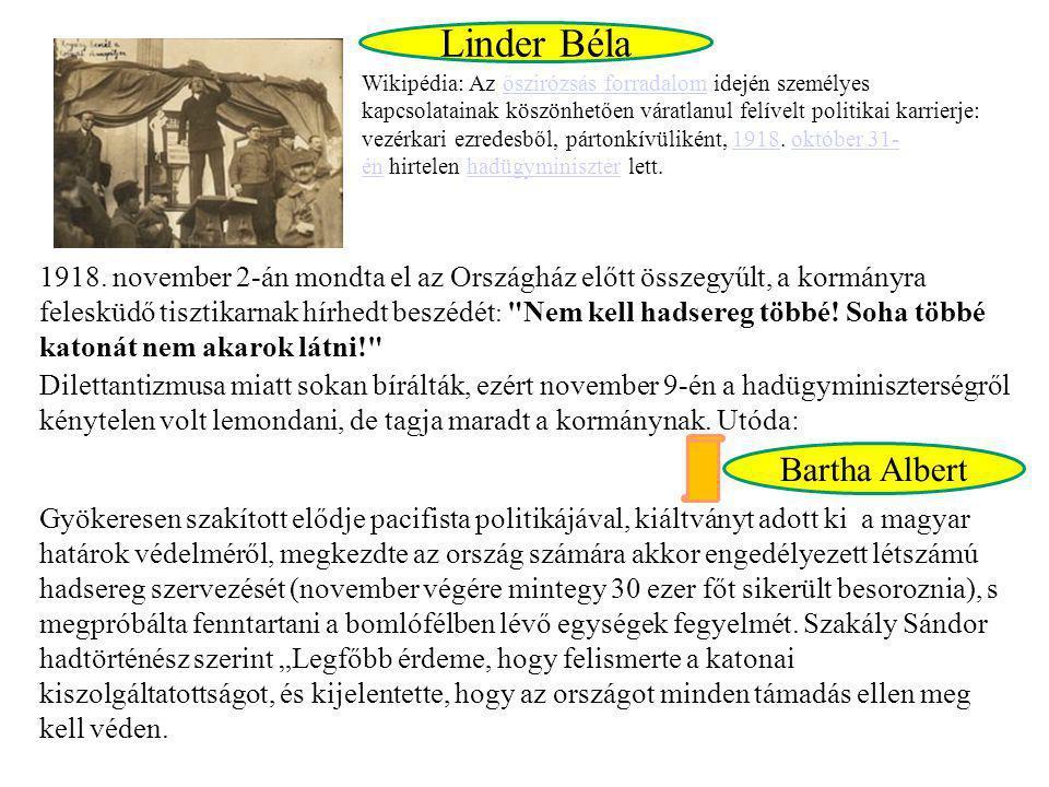 Linder Béla Bartha Albert