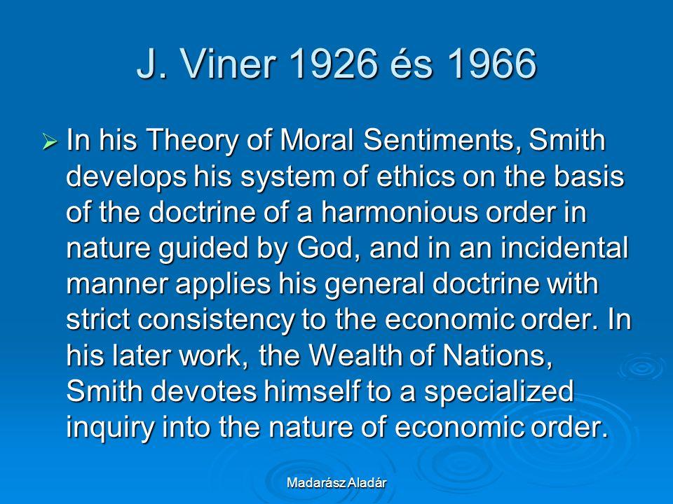 J. Viner 1926 és 1966