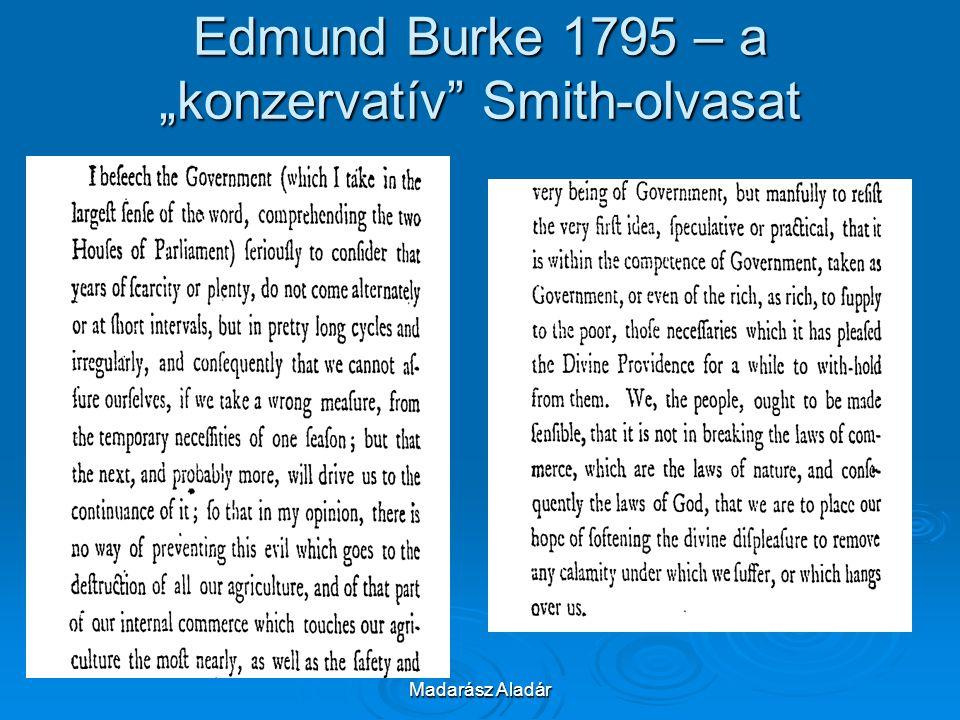 "Edmund Burke 1795 – a ""konzervatív Smith-olvasat"