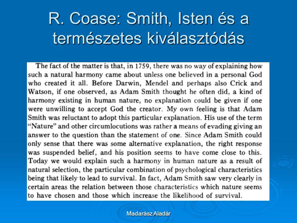 R. Coase: Smith, Isten és a természetes kiválasztódás