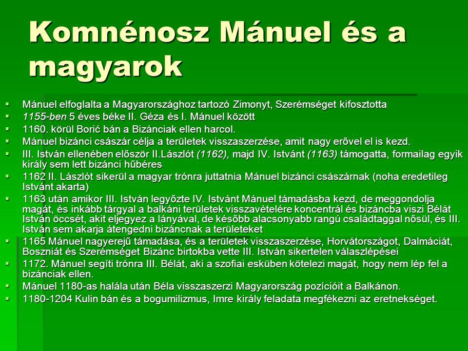 Komnénosz Mánuel és a magyarok