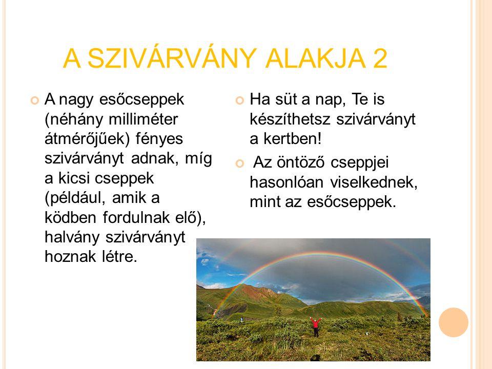 A SZIVÁRVÁNY ALAKJA 2