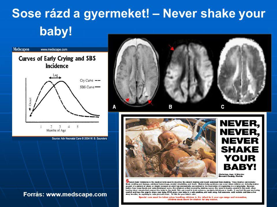 Sose rázd a gyermeket! – Never shake your baby!