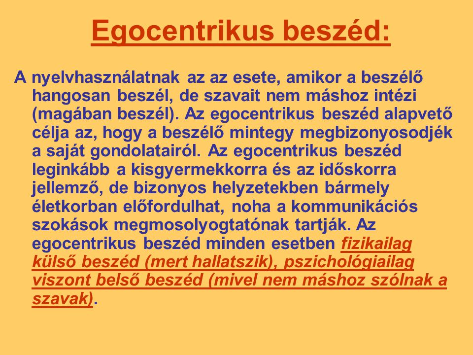 Egocentrikus beszéd: