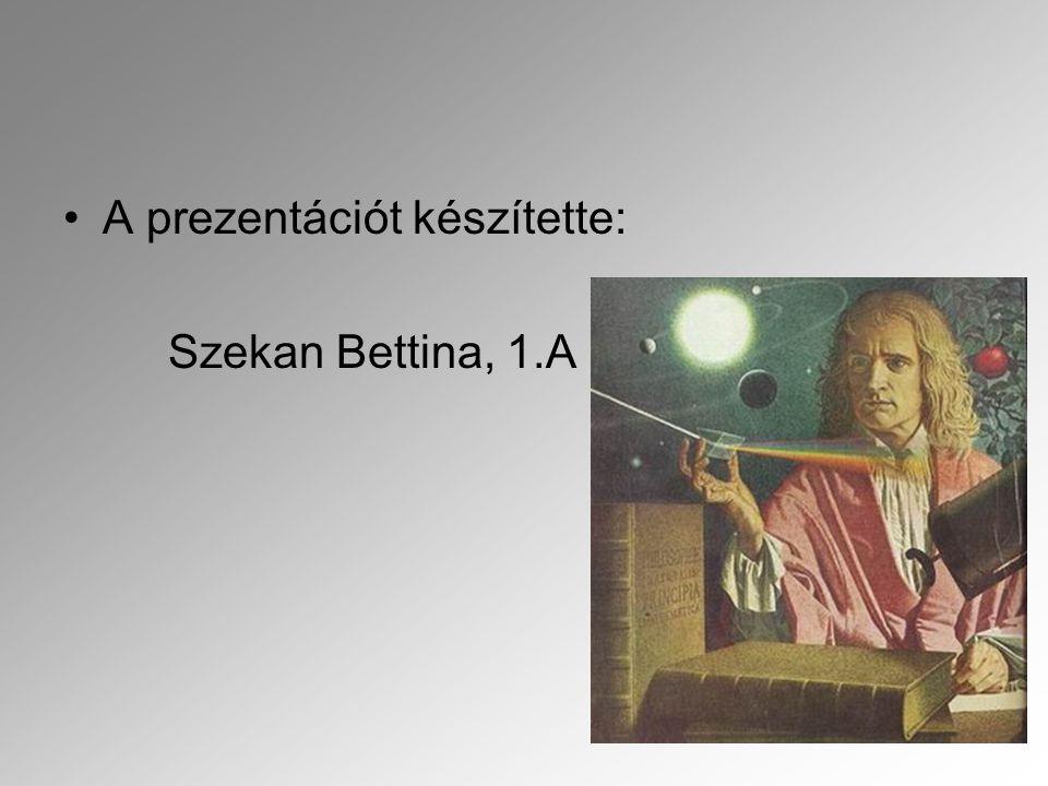 A prezentációt készítette: