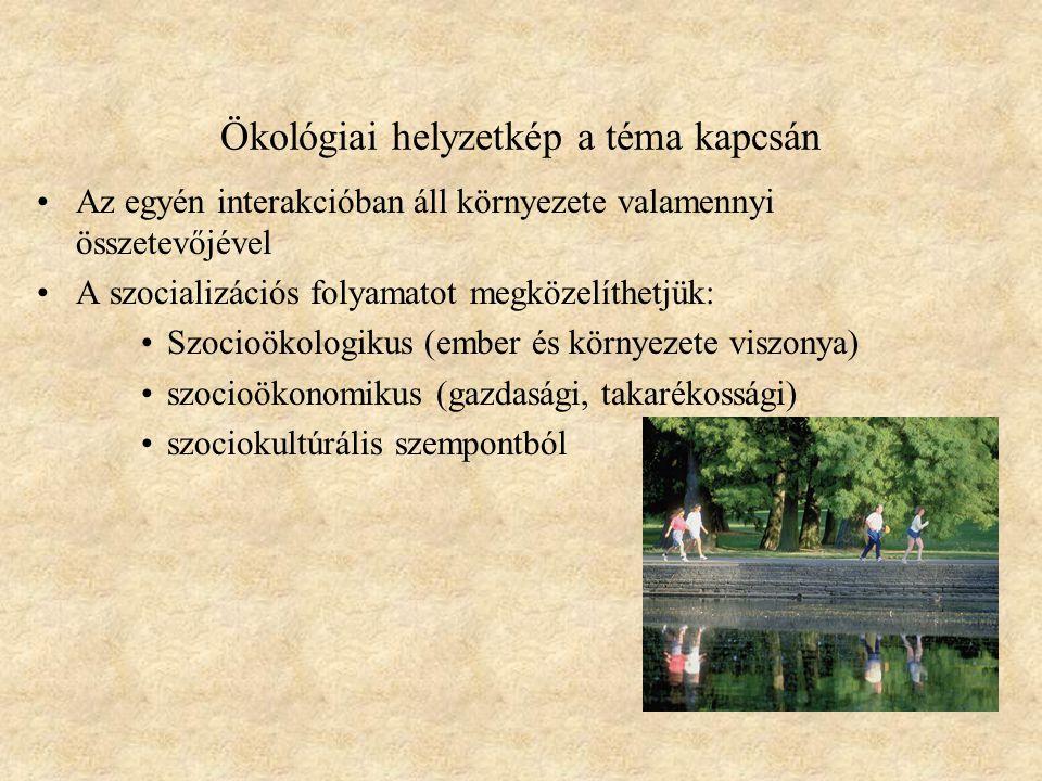 Ökológiai helyzetkép a téma kapcsán