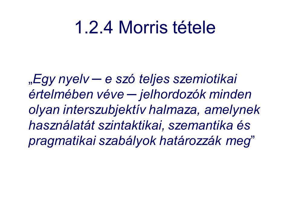 1.2.4 Morris tétele
